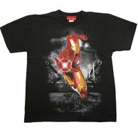 MARVEL IRON MAN TANK THEORY Licensed Black Boys/Youth Tee