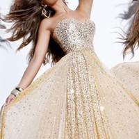 Sequin Ball Gown by Sherri Hill