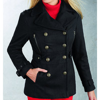 R&O Ladies Wool Fashion Pea Coat - Online Exclusive