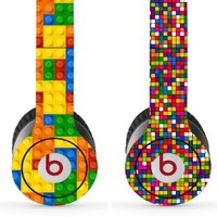 Skin Kit 2 Design Set for Solo / Solo Hd Beats By Dr. Dre - $1 Shipping! - (Headsets Not Included) - Lego Pattern & Dots Designs