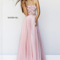 Sherri Hill 11075 Beaded Chiffon Gown