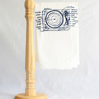 girlscantell — Turntable Diagram Floursack Towels