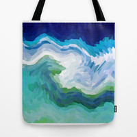 AQUA CRYSTALS Tote Bag by catspaws