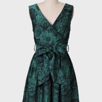 Connie Jacquard Floral Dress By Darling UK