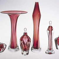 Blown Glass Vases and Perfumes by Jonathan Winfisky: Art Glass Form | Artful Home