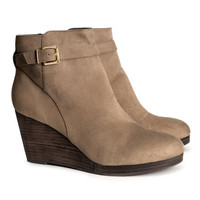 Wedge-heel Boots - from H&M