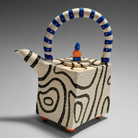 Blackline Teapot by Vaughan Nelson: Ceramic Teapot | Artful Home