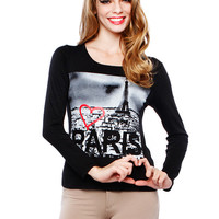I LOVE PARIS GRAPHIC TOP