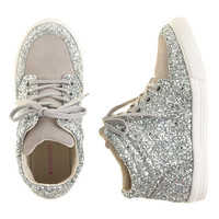 GIRLS' GLITTER SUEDE HIGH-TOPS