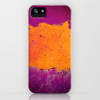 orange & purple iPhone & iPod Case by Iris Lehnhardt