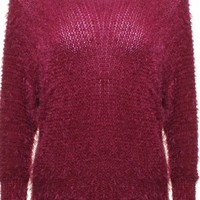 Berry Red Round Neck Sweater