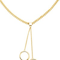 CHLOÉ Gold-tone Curb Chain Necklace