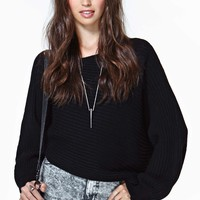 Adrienne Crop Sweater - Black