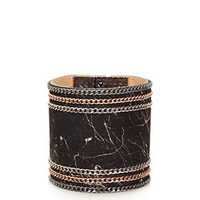 **CHAIN LEATHER CUFF BY CJG