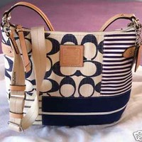 COACH DAISY PATCHWORK CONVERTIBLE HOBO SHOULDER BAG CROSSBODY F23963 $358 NWT