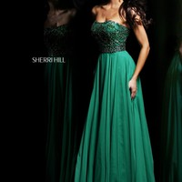 Sherri Hill 11075 Strapless Evening Gown
