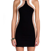 Racerback Waved Mini Dress