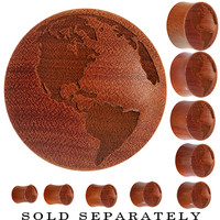 Organic Sawo Wood Earth Saddle Plug | Body Candy Body Jewelry