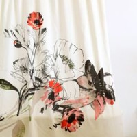 Wild Poppy Bouquet Shower Curtain