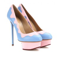 JOSIE SUNDAE LEATHER PLATFORM PUMPS