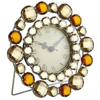 Amber Gems Mini Clock