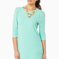 LAVELL SHIFT DRESS IN MINT
