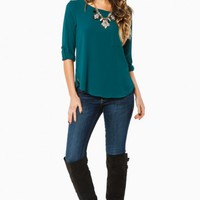 SHAUNA BLOUSE IN TEAL