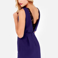 Lace Against Time Royal Blue Lace Dress