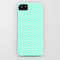 Chevron Mint Green Print iPhone & iPod Case by productoslocos