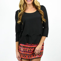 Technicolor Tribal Skirt