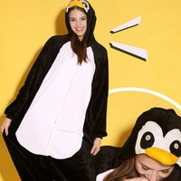 Polar Fleece Penguin Shaped Nightwear For Women