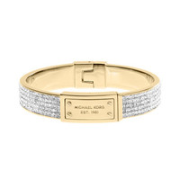 Michael Kors Pave Plaque Bangle, Golden