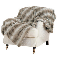 Arctic Fox Faux Fur Throw, Large