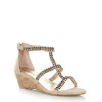Stone Gem Caged Sandals
