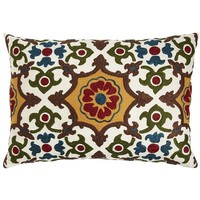 Embroidered Tile Pillow