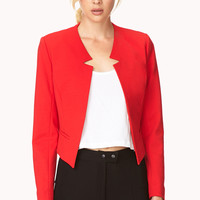 Sleek Collarless Blazer