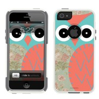 iPhone 5 Case Quilt Owl White (comparable to Otterbox Commuter)