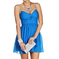 Elly- Bright Aqua Short Dress