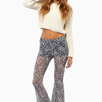 Finding Floral Flared Pants $48