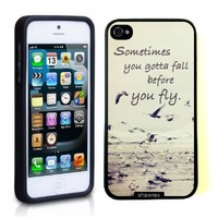 Iphone 5 5S Case Thinshell Case Protective Iphone 5 5S Case Shawnex Sometimes You Gotta Fall Quote Ocean