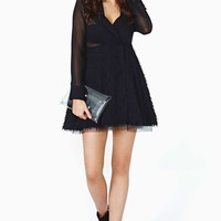 Nasty Gal Collection Flutter Effect Shirtdress