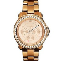 Pedigree Boyfriend Pink Gold Watch