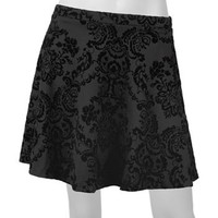 IZ Byer California Velvet Skirt - Juniors