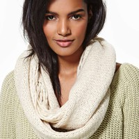 Shred Infinity Scarf - Cream