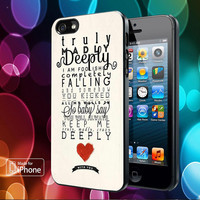 One Direction Truly Madly Deeply Cover for iPhone, Samsung, iPod, Blacberry, htc and sony Case