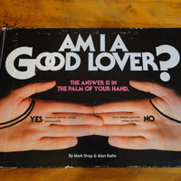 Vintage 1980's Book - Am I A Good Lover - Palm Reading Palmistry By Mark Shap & Alan Kahn