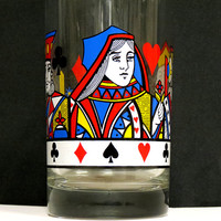 Playing Card Highball Glass - Unique Coaster Included - Poker / Cards - Bar / Housewares