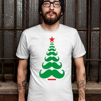 Men Funny Christmas Tree Mustache (Various Color Available)