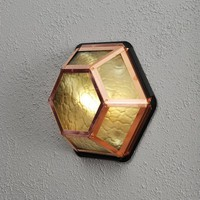 Konstsmide Castor Single Light Outdoor Wall or Ceiling Fitting in Copper Finish - Konstsmide from Castlegate Lights UK