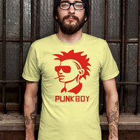 Red Punk Boy Mens Design T Shirt for Men (Various Color Available)